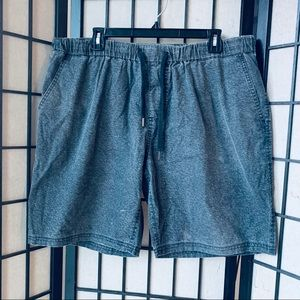Ezekiel grey acid wash elastic waist shorts sz 30